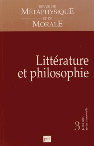 Didier Deleule - Revue de Métaphysique et de Morale N° 3, juillet-septem : Littérature et philosophie.