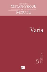 Didier Deleule - Revue de Métaphysique et de Morale N° 3, Juillet-septem : Varia.