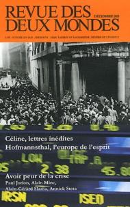 Michel Crépu - Revue des deux Mondes Décembre 2011 : Psychologie de la crise.