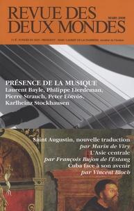 Laurent Bayle et Philippe Lierdeman - Revue des deux Mondes Mars 2008 : Présence de la musique.