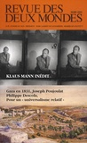 Marc Ladreit de Lacharrière - Revue des deux Mondes Mars 2009 : Klaus Mann inédit.