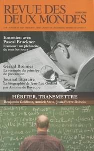 Michel Crépu - Revue des deux Mondes Mars 2010 : Hériter, transmettre.