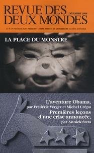 Michel Crépu et Frédéric Verger - Revue des deux Mondes N° 12, Décembre 2008 : La place du monstre - L'aventure Obama ; Premières leçons d'une crise annoncée.