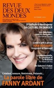 Thierry Moulonguet - Revue des deux Mondes Octobre 2021 : Menaces sur la culture.