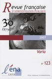 Michel Cotten et Richard Norman - Revue française d'administration publique N° 123 : .