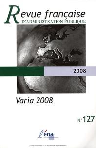 Olivier Thomas - Revue française d'administration publique N° 127 : Varia 2008.