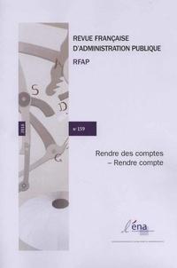 ENA - Revue française d'administration publique N°159/2016 : La qualité de la justice administrative.