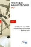 ENA - Revue française d'administration publique N° 162 : Les communes nouvelles.