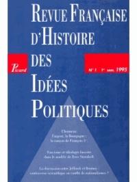 Picard Editions - Revue française d'Histoire des idées politiques N° 1 : .
