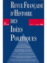 Picard Editions - Revue française d'Histoire des idées politiques N° 3 : .
