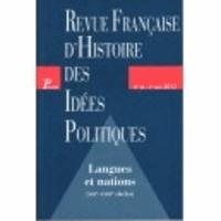 Guillaume Bacot - Revue française d'Histoire des idées politiques N° 36, 2e semestre 2 : Langues et nations - XIIIe-XVIIIe siècles.