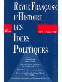 Picard Editions - Revue française d'Histoire des idées politiques N° 4 : .
