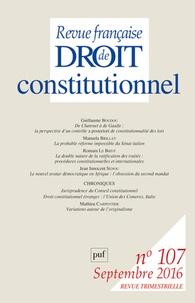 Frédéric Mériot - Revue française de Droit constitutionnel N° 107, septembre 20 : .