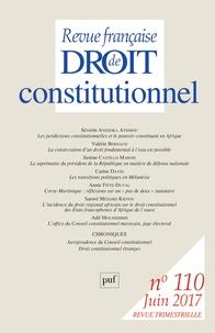 Sylvie Marcé - Revue française de Droit constitutionnel N° 110, juin 2017 : .
