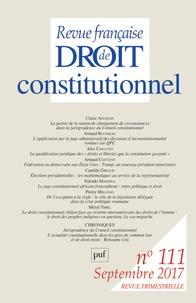 Sylvie Marcé - Revue française de Droit constitutionnel N° 111, septembre 20 : .