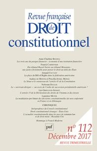 Sylvie Marcé - Revue française de Droit constitutionnel N° 112, décembre 201 : .