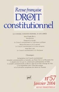Jean-Claude Ricci et François Luchaire - Revue française de Droit constitutionnel N° 57, Janvier 2004 : Le Conseil Constitutionnel 45 ans après.