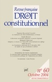 Didier Maus - Revue française de Droit constitutionnel N° 60, Octobre 2004 : .