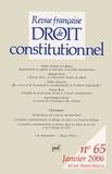 Valérie Goesel-Le Bihan et Gilles Armand - Revue française de Droit constitutionnel N° 65, Janvier 2006 : .
