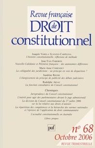 Joaquín Varela Suanzes-Carpegna et Jean-Yves Faberon - Revue française de Droit constitutionnel N° 68, Octobre 2006 : .