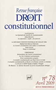 Lech Garlicki et Julien Boudon - Revue française de Droit constitutionnel N° 78, Avril 2009 : .