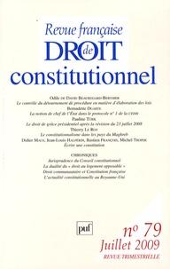 Odile de David Beauregard-Berthier et Pauline Türk - Revue française de Droit constitutionnel N° 79, Juillet 2009 : .