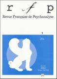 François Kamel et Denys Ribas - Revue Française de Psychanalyse Tome 68 N° 1 Janvier : Jeu.