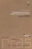 Ministère Affaires Sociales - Revue française des Affaires sociales N° 1, janvier-mars 2 : Stratégies de croissance, emploi et protection sociale.