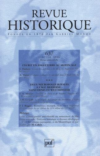 John Hudson et Aude Mairey - Revue historique N° 637, Janvier 2006 : .