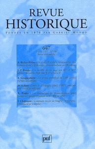 Audrey Becker-Piriou et Jean-Patrice Boudet - Revue historique N° 647, Juillet 2008 : .