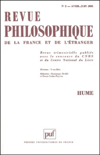 Puf - Revue philosophique N° 2, Avril-Juin 200 : Hume.