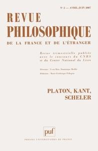 Marc-Antoine Gavray et Jacques Darriulat - Revue philosophique N° 2, Avril-juin 200 : Platon, Kant, Scheler.