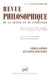 Marie-Frédérique Pellegrin et Georges Chapouthier - Revue philosophique N° 3, juillet-septem : Stimulation et connaissance.