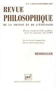 Yvon Brès et Dominique Merllié - Revue philosophique N° 3, Juillet-Septem : Heidegger.