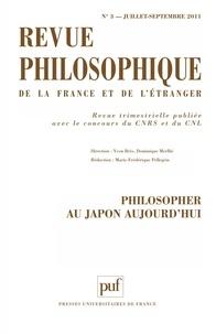 Yvon Brès et Dominique Merllié - Revue philosophique N° 3, Juillet-Septem : Philosopher au Japon aujourd'hui.
