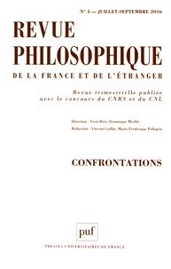 Yvon Brès et Dominique Merllié - Revue philosophique N° 3, juillet-septem : Confrontations.