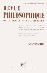 Blaise Benoît et Eric Blondel - Revue philosophique N° 4, Octobre-Décemb : Nietzsche.