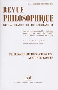 Annie Petit et François Vatin - Revue philosophique N° 4, Octobre-Décemb : Philosophie des sciences : Auguste Comte.
