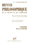 Wolf Feuerhahn et Michel Bourdeau - Revue philosophique N° 4, Octobre-décemb : L'homme et la nature.