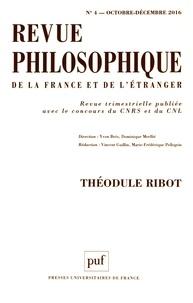Yvon Brès et Dominique Merllié - Revue philosophique N° 4, octobre-décemb : Théodule Ribot.