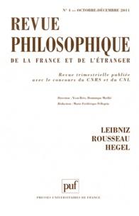 Yvon Brès et Dominique Merllié - Revue philosophique N° 4, Octobre-Décemb : Leibniz, Rousseau, Hegel.