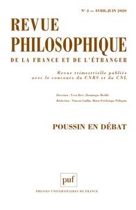 Vincent Guillin et Marie-Frédérique Pellegrin - Revue philosophique Volume 145 N° 2, avr : Poussin en débat.
