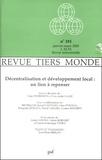 Alain Dubresson et Yves-André Fauré - Revue Tiers Monde N° 181, Janvier-Mars : Décentralisation et développement local : un lien à repenser.