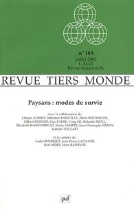 Claude Aubert - Revue Tiers Monde N° 183, Juillet 2005 : Paysans : modes de survie.