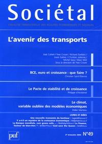 José Cohen et Yves Crozet - Sociétal N° 49, 3e trimestre : L'avenir des transports.