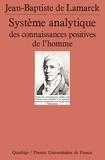 Jean-Baptiste-Pierre-A Lamarck - Système analytique des connaissances positives de l'homme.