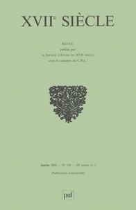 Anne Piéjus et Jean-Marc Civardi - XVIIe siècle N° 238, Janvier-Mars : Archéologie d'un spectacle jésuite : Polymestor et Sigalion ou le secret (1689).