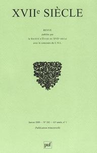 Michel Fichant et André Charrak - XVIIe siècle N° 242, Janvier-Mars : .