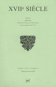 Sylvie Robic et Max Vernet - XVIIe siècle N° 251, Avril 2011 : .