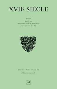 Bernard Beugnot et Eric Van der Schueren - XVIIe siècle N° 252, Juillet-Sept : La recherche dix-septiémiste au Canada.